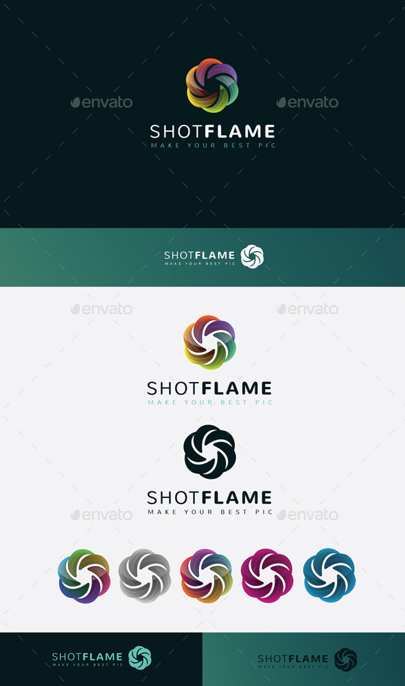 GraphicRiver Shot Flame Logo 11045540