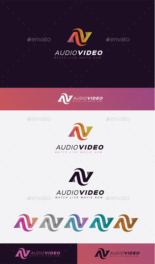 GraphicRiver Audio Video Logo 11045551