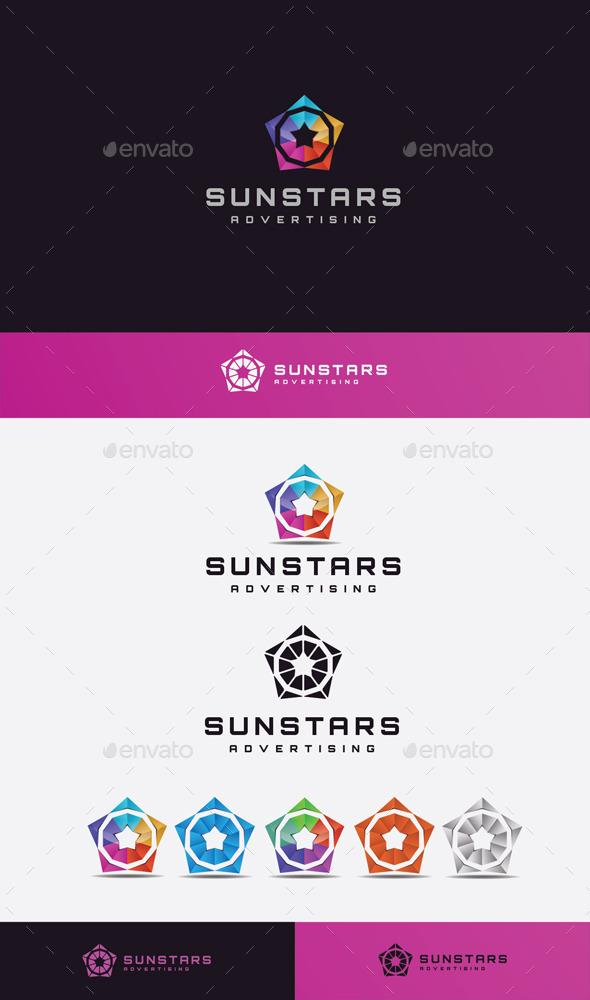 GraphicRiver Sun Stars Logo 11045555