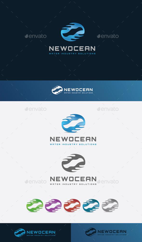 GraphicRiver Ocean Symbol Logo 11045583