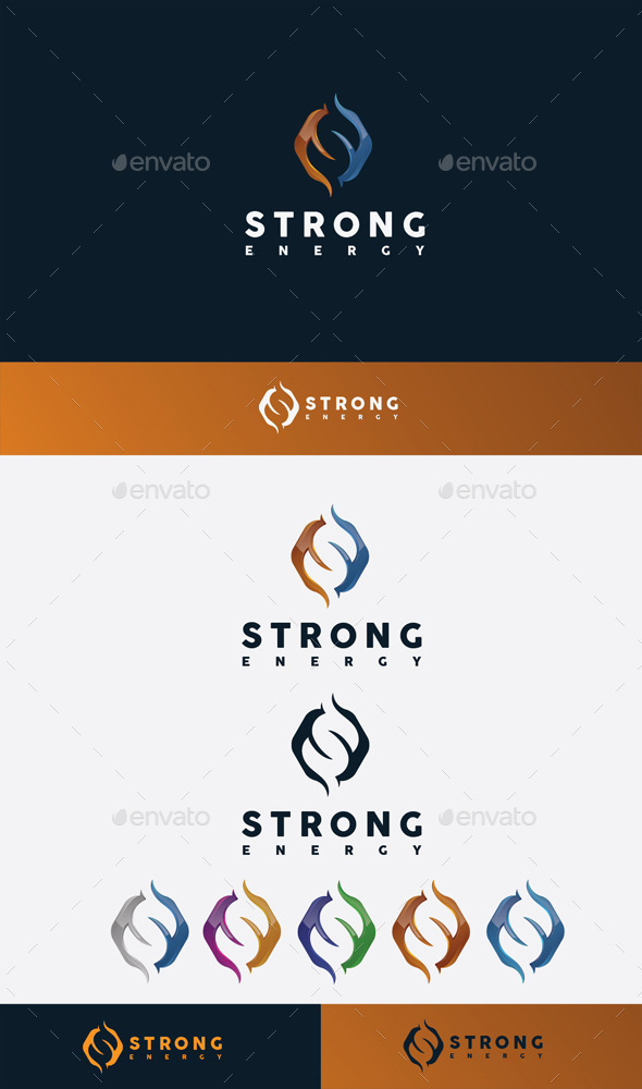 GraphicRiver Strong Energy Logo 11045586
