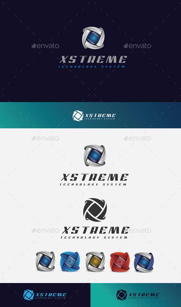 GraphicRiver X Stream Logo 11045588