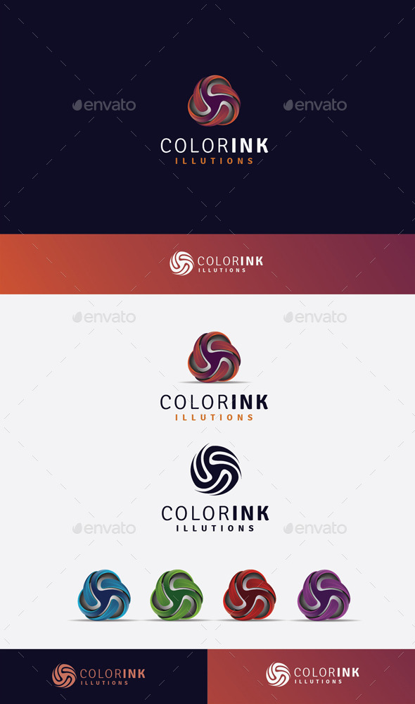 GraphicRiver Color Ink Logo 11045590