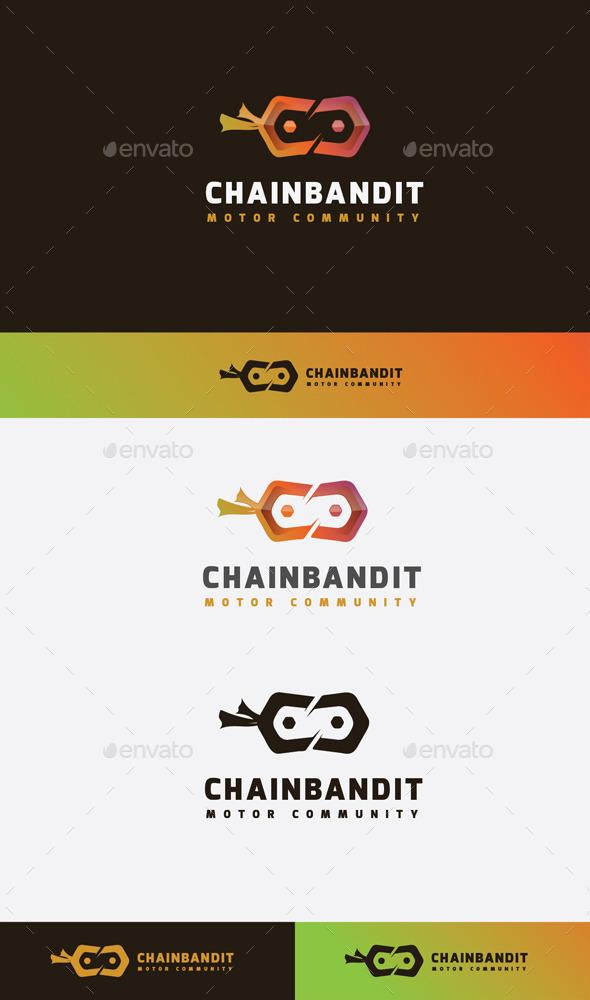 GraphicRiver Chain Bandit Logo 11045592