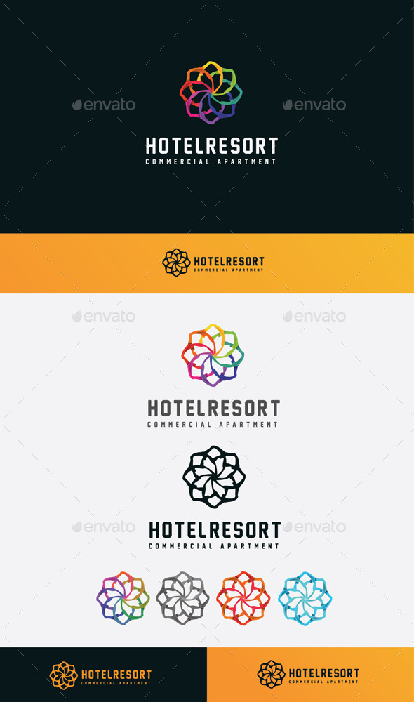 GraphicRiver Hotel Resort Logo 11045594