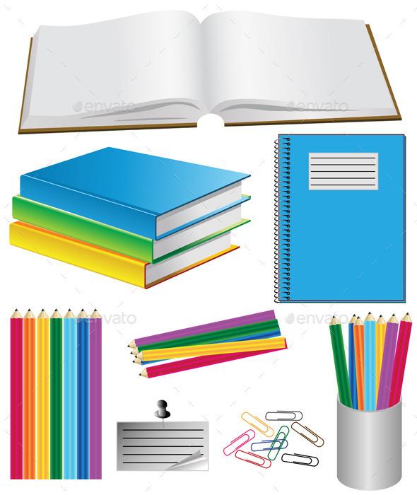 GraphicRiver School Belongings 11045913