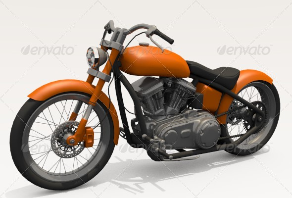 Motorcycle - 3DOcean Item for Sale