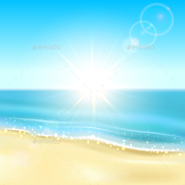 GraphicRiver Beach and Sparkling Ocean 11046199