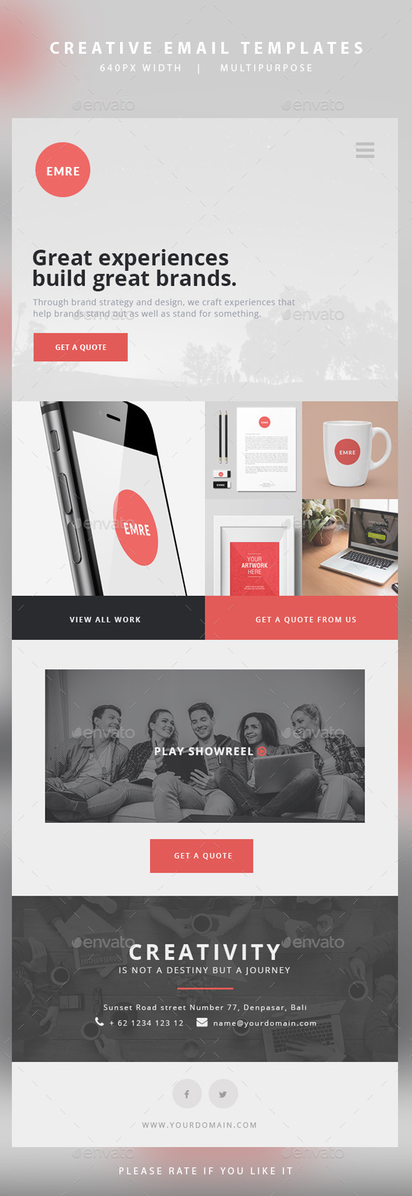 GraphicRiver Creative Email Templates Emre 11046215