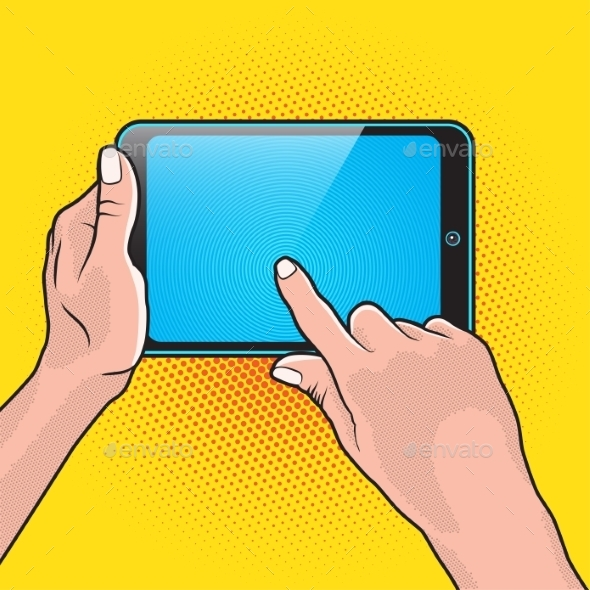 GraphicRiver Hands and Touch Tablet 11046238