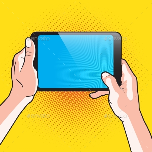 GraphicRiver Hands and Touch Tablet 11046300