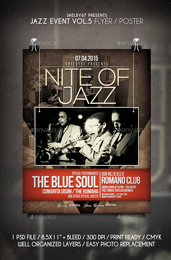 GraphicRiver Jazz Event Flyer Poster Vol 5 11046315