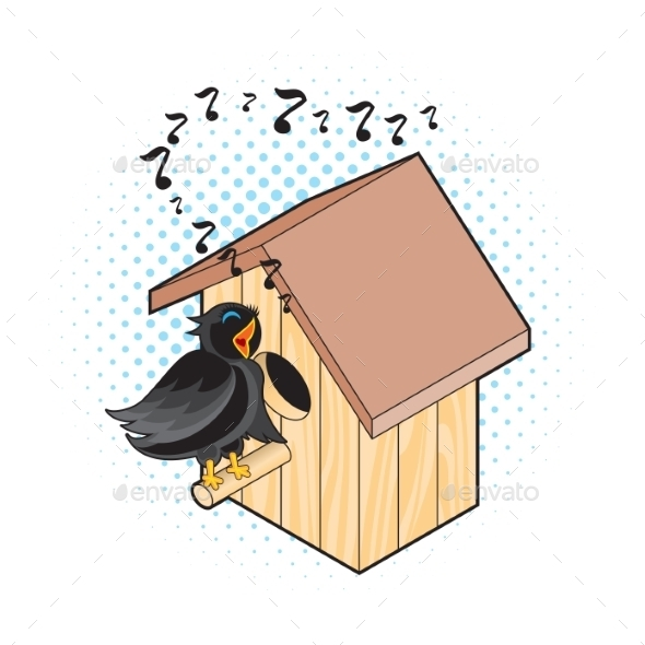 GraphicRiver Starling and Nesting Box 11046319