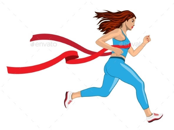 GraphicRiver Winner Running Woman 11046379