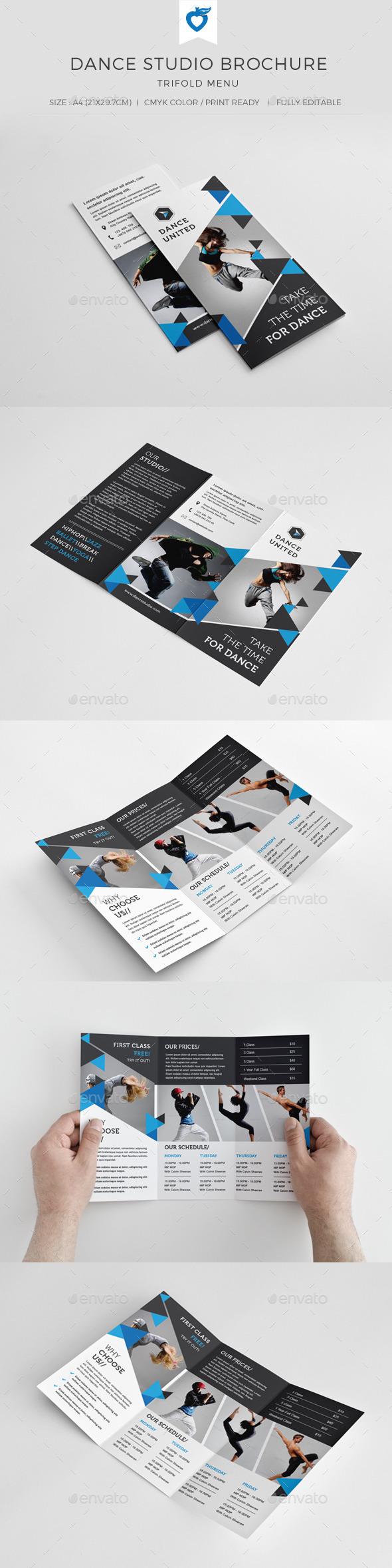 GraphicRiver Dance Studio Trifold Brochure 11046510