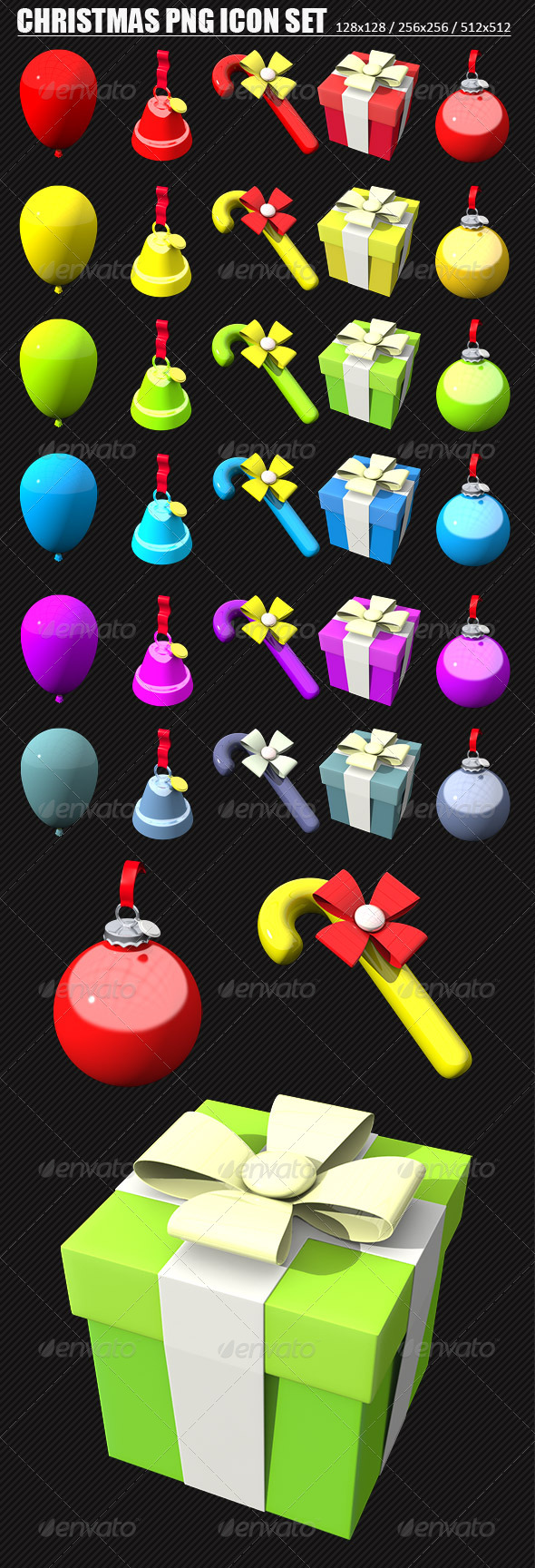 Christmas PNG Icons Set - Web Icons