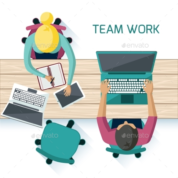 GraphicRiver Office Workers on Meeting 11046922