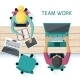 Office Workers on Meeting - GraphicRiver Item for Sale