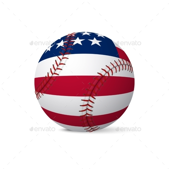 GraphicRiver Baseball Flag of USA 11047019