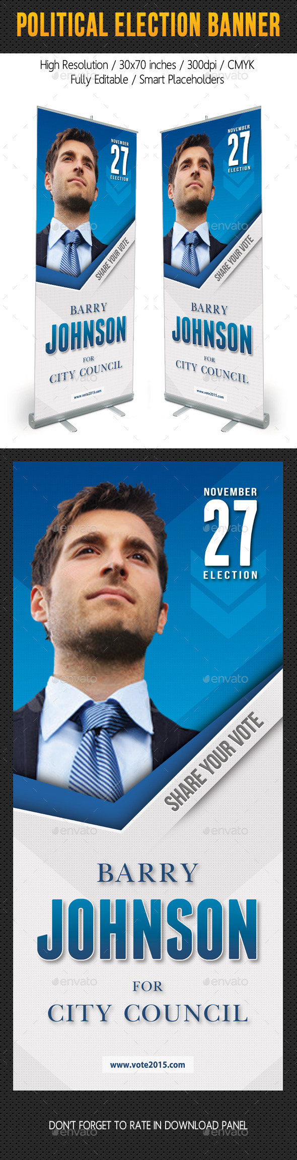 GraphicRiver Political Election Banner Template V2 11047106