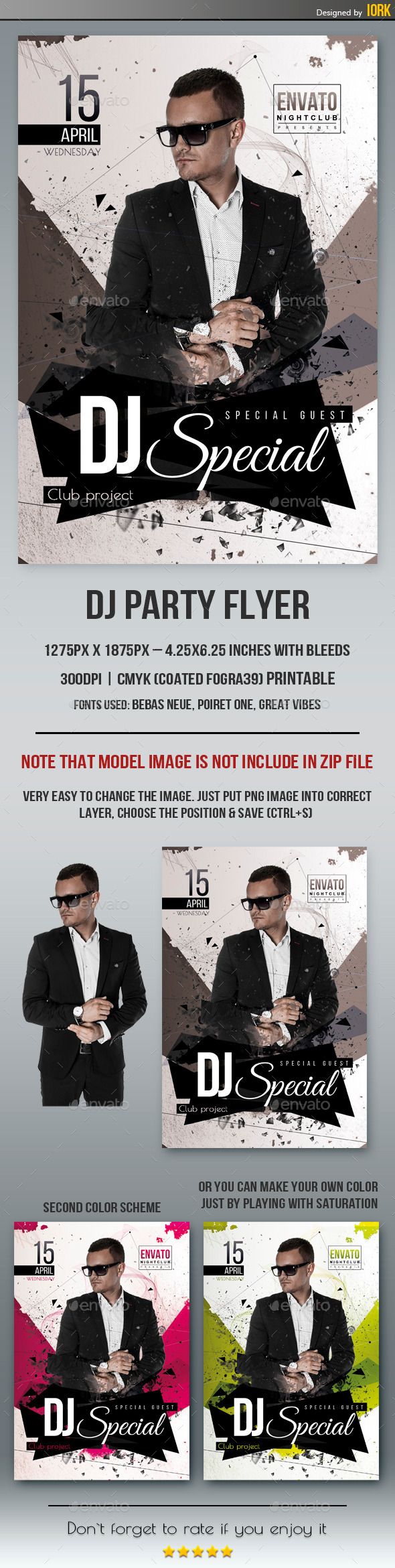 GraphicRiver Dj Party Flyer 11047211