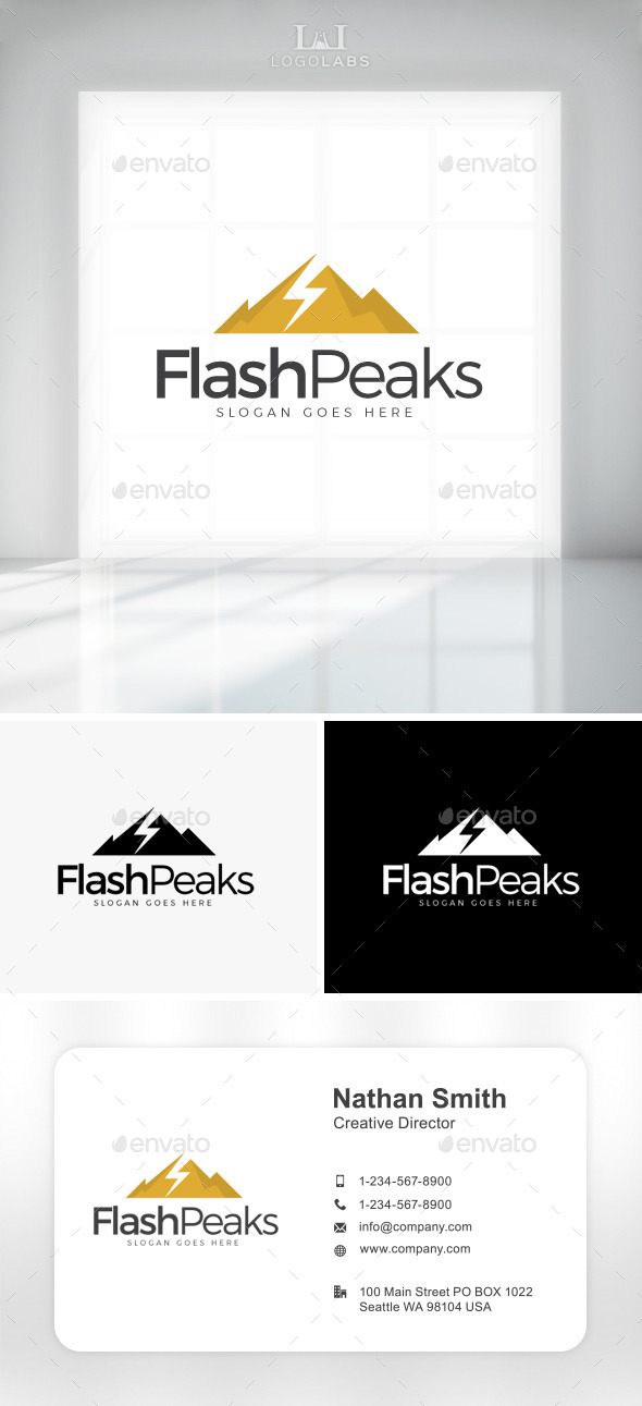 GraphicRiver Flash Peaks Logo 11047556