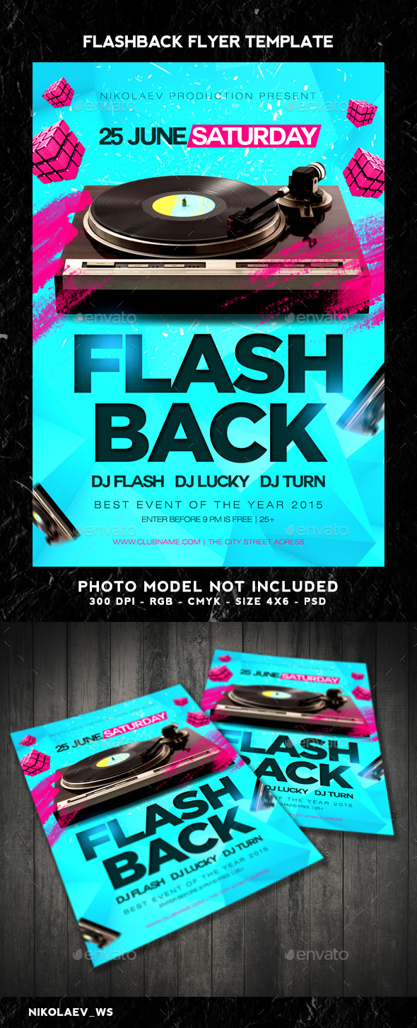 GraphicRiver Flash Back Flyer 11047566