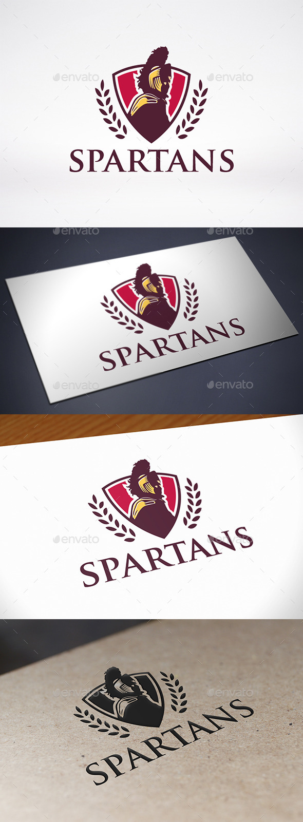 GraphicRiver Spartan Warrior Logo Template 11047573