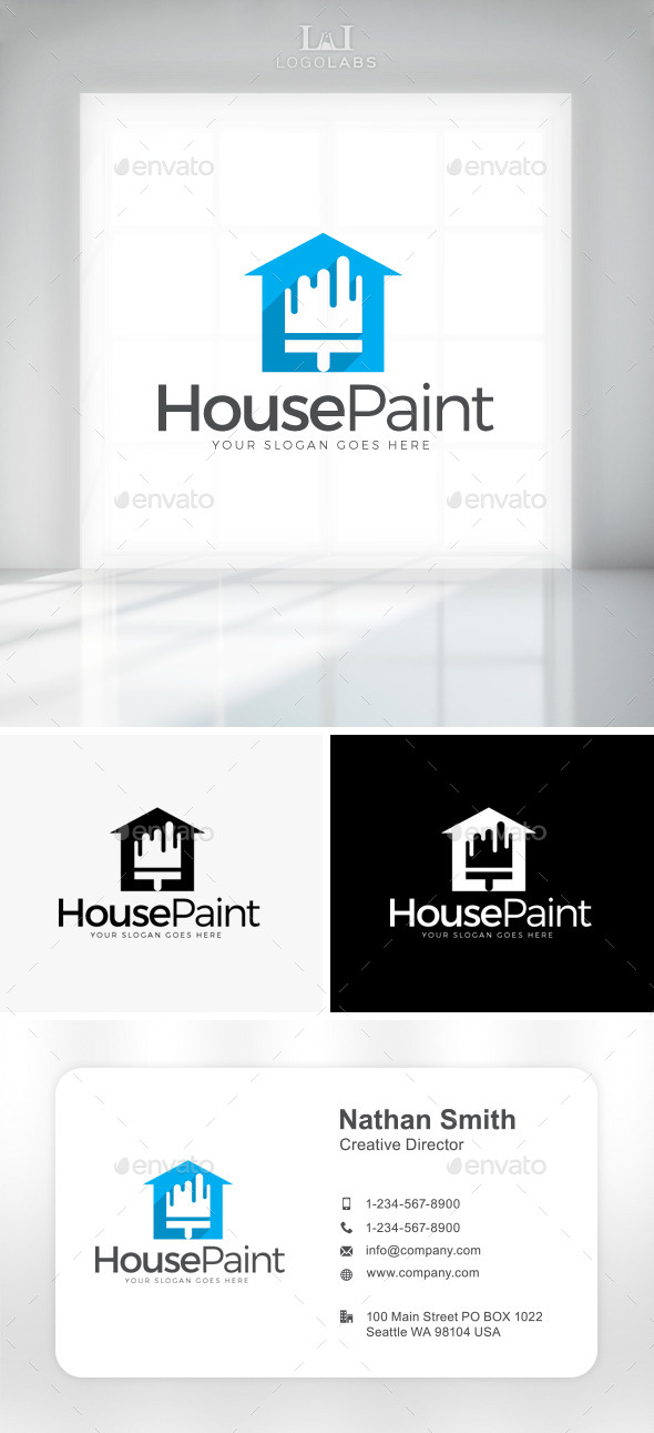 GraphicRiver House Paint Logo 11047628