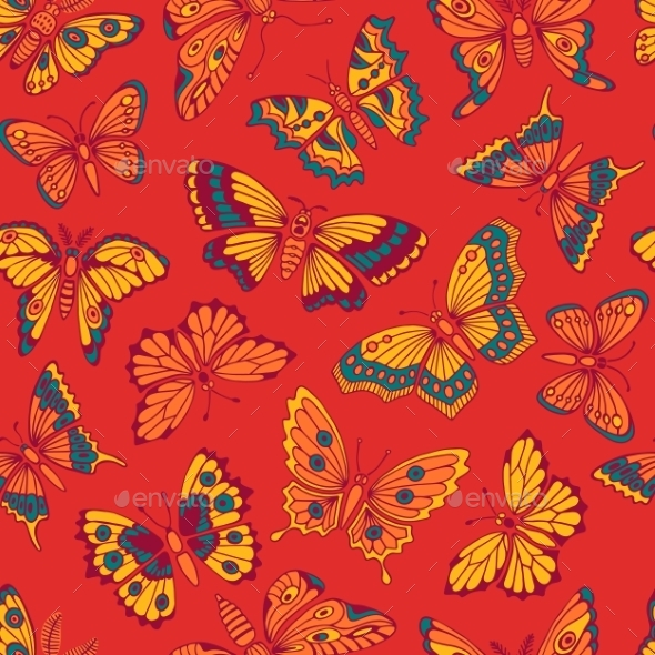 GraphicRiver Butterfly Background 11047633