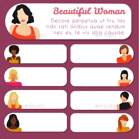 GraphicRiver Cards with Women 11047634