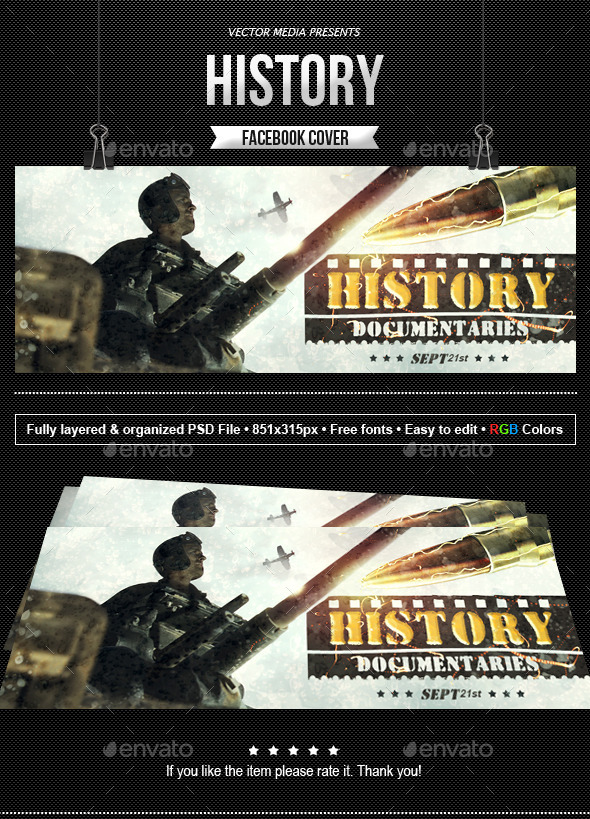 GraphicRiver History Facebook Cover 11016194