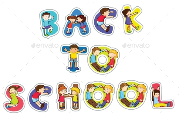 GraphicRiver English Word Back to School 11047691