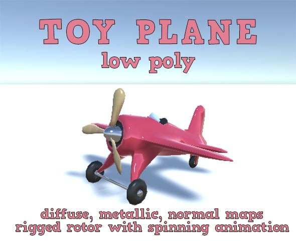3DOcean Low Poly Toy Plane 11047699