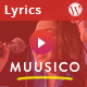 Muusico Responsive Song Lyrics WordPress Theme