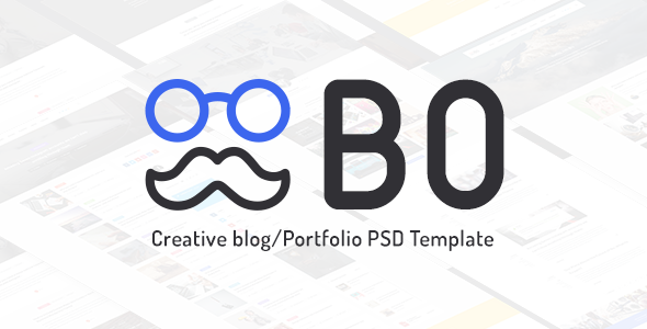 ThemeForest Bo l Creative Blog Portfolio PSD Template 11047844