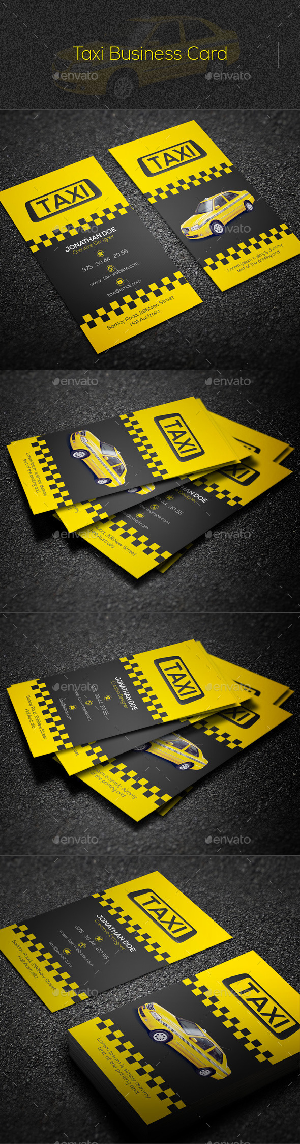 GraphicRiver Taxi Business Card 11047856