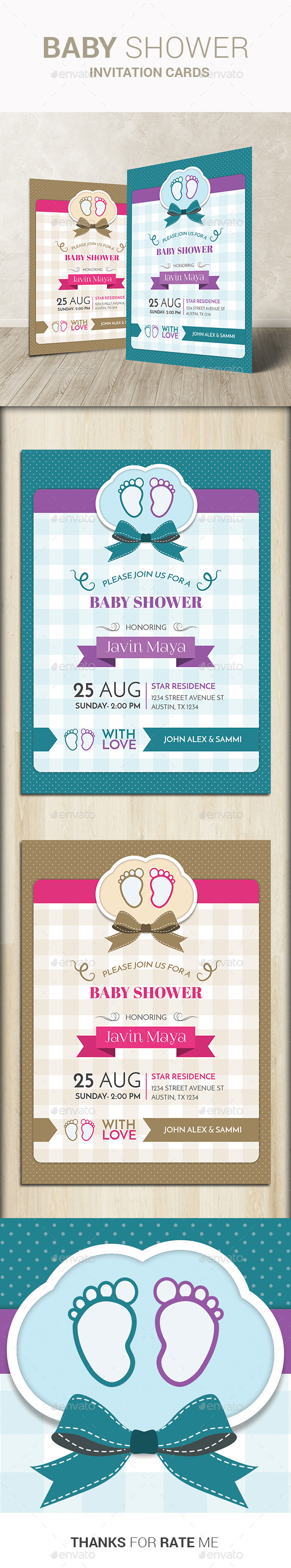 GraphicRiver Baby Shower Invitation Cards 11047862