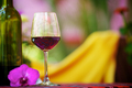 Glass with red wine on the table - PhotoDune Item for Sale