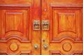 Retro wooden door and handles - PhotoDune Item for Sale