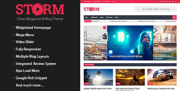 Storm - Clean Magazine & Blog Theme - Blog / Magazine WordPress