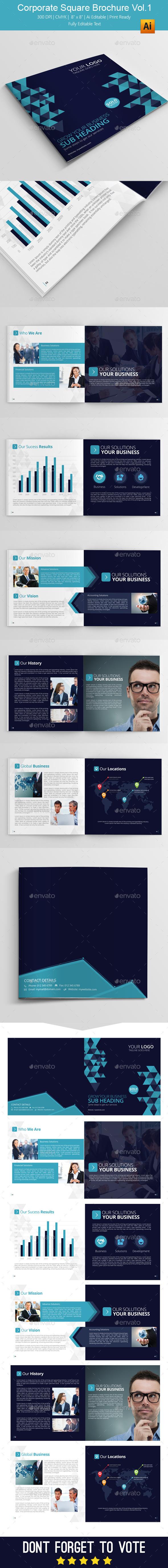 GraphicRiver Corporate Square Brochure Vol.1 11007942