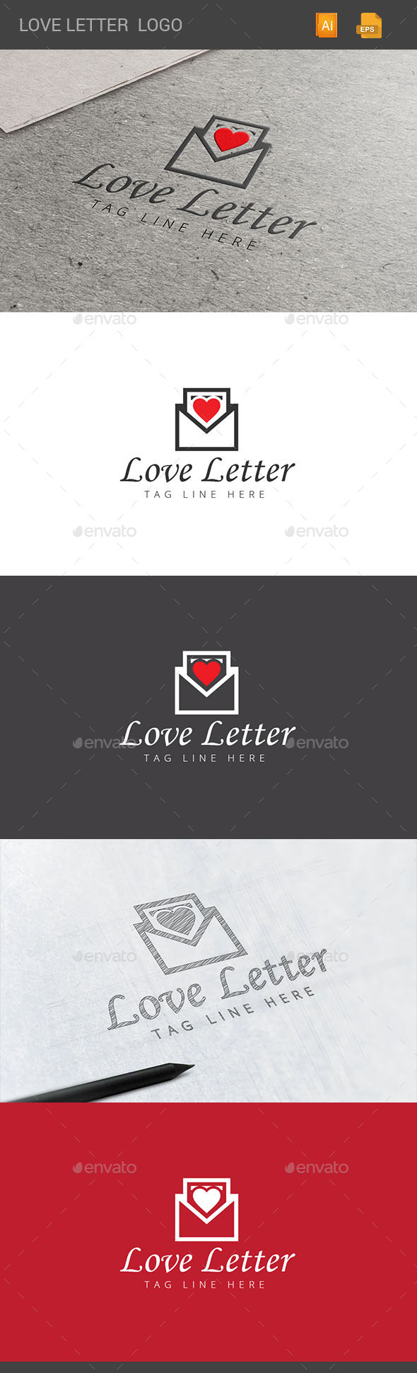 GraphicRiver Love Letter Logo 11048011