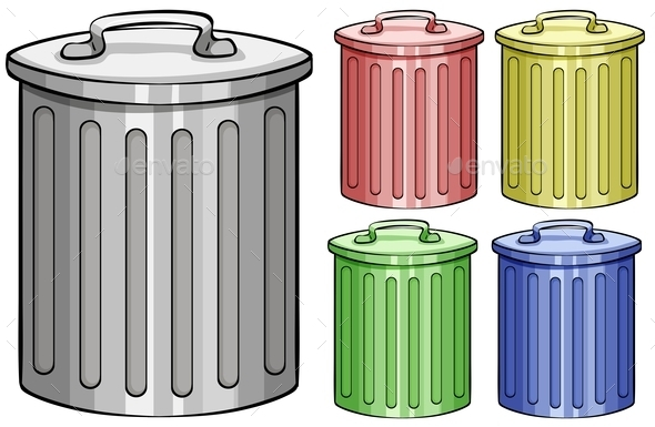 GraphicRiver Trash Cans 11048086
