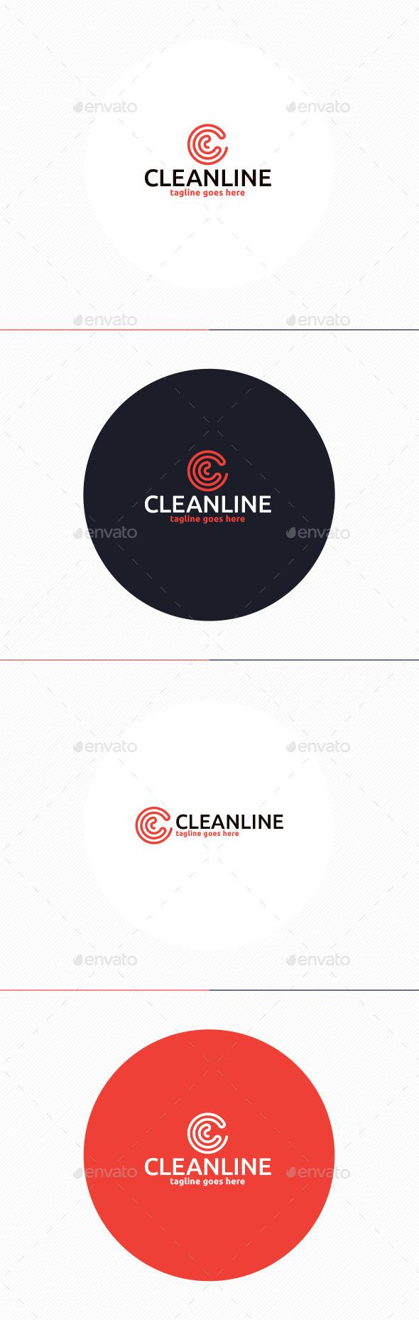 GraphicRiver Clean Line Logo Letter C 11048154