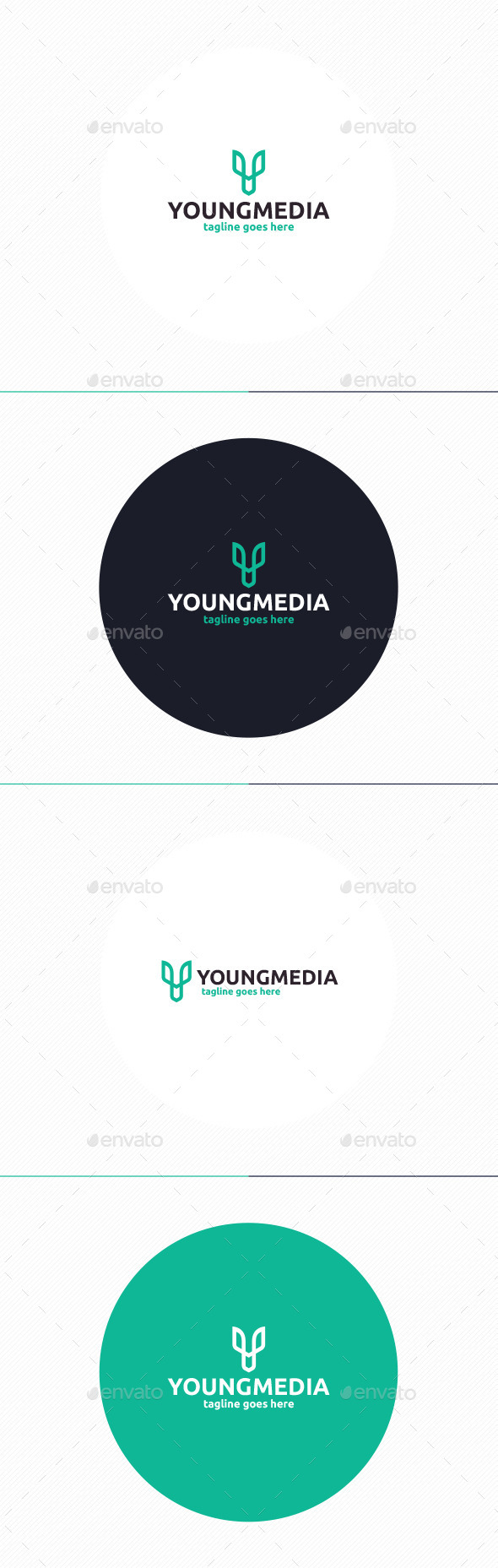 GraphicRiver Young Media Logo Letter Y 11048209