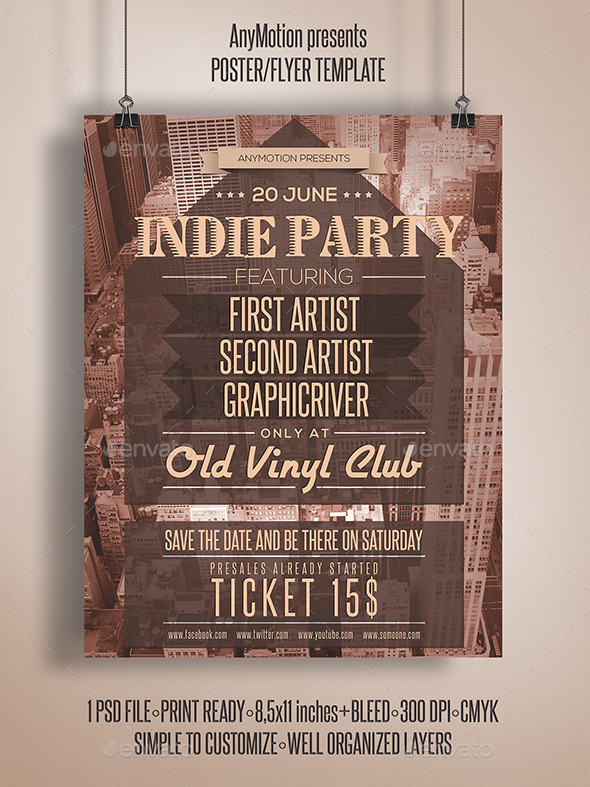 GraphicRiver Indie Party Flyer 11048257