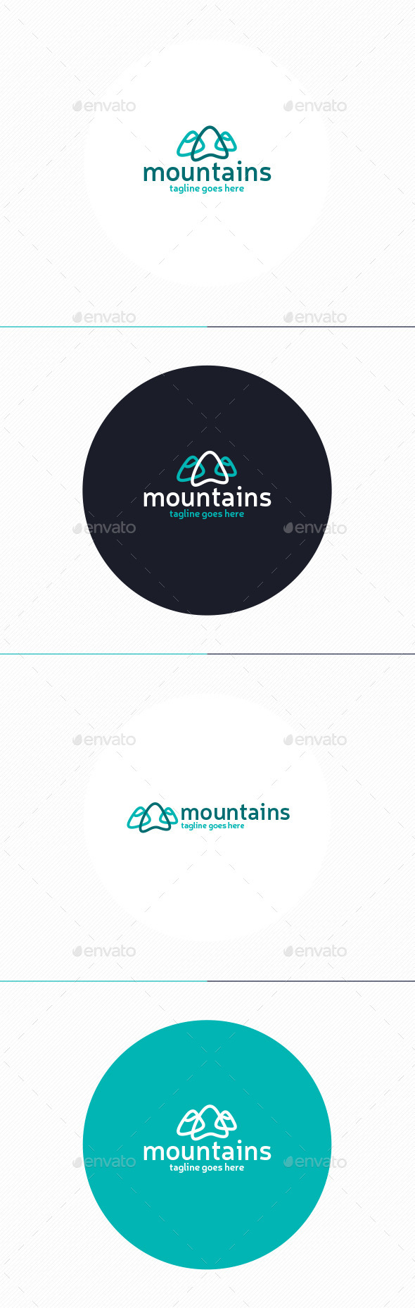 GraphicRiver Mountains Logo 11048272