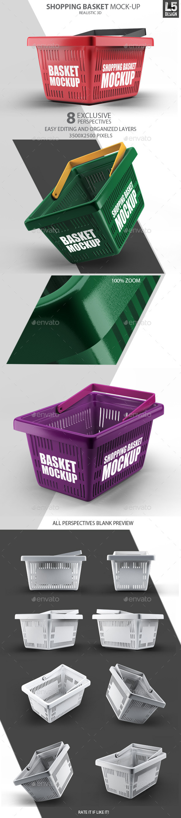 GraphicRiver Shopping Basket Mock-Up 11048708