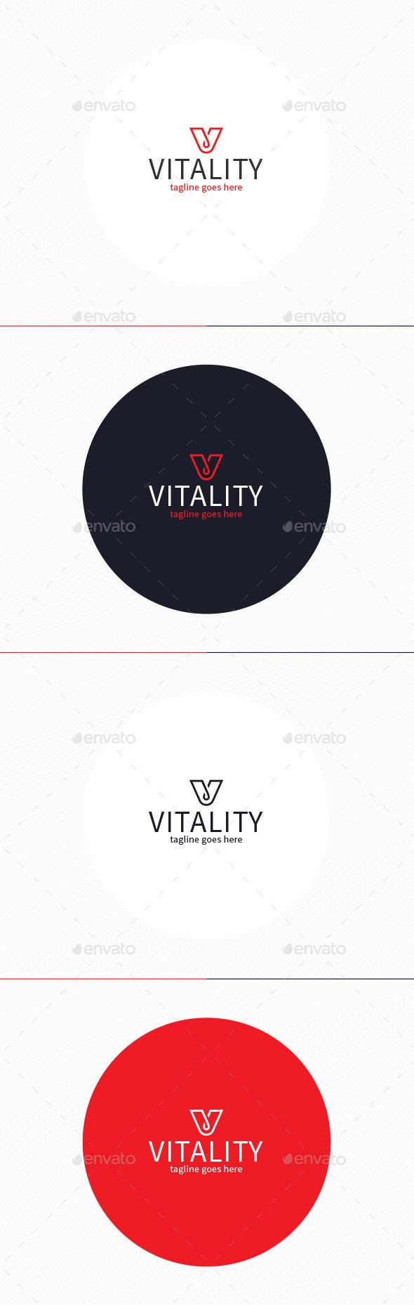 GraphicRiver Vitality Logo Letter V 11049136